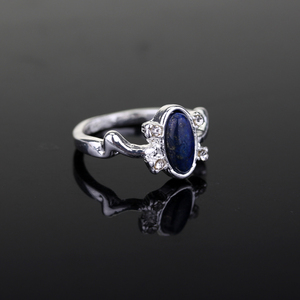 The Vampire Diaries Ring Elena's Daylight Sun Protection Ring Classic Design Blue Stone Ring For Women Fashion Accessories(China)