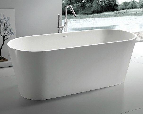 1.6 Meters Bathtub Freestanding Bathtub Whirlpool Ceramic Bathtub Solid  Surface Alone Tub T556