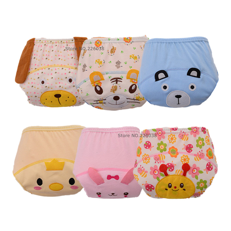 New Arrive Baby Cloth Underwear Washable Baby Diapers Child Training Pants Reusable Nappy Cover QD07