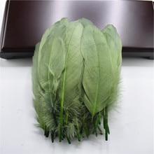 Хорошее качество перо натуральный белый гусиный пух 15-20 см украшения свадебные Красочные перо Материал аксессуары Шлейфы