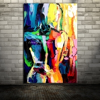 Handpainted Canvas Painting Arts Poster Abstract Sexy Naked Palette Knife Oil Paintings Wall Pictures For Living Room Home Decor