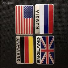 Docolors Auto-Styling Nationale Vlag Stickers Voor Chery Tiggo Fulwin A1 A3 Qq E3 E5 G5 V7 Emgrand EC7 EC7-RV EC8
