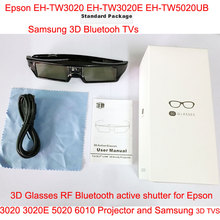 Li thium Battery Powered Universal 3D Bluetooth Rechargeable Active Shutter 3D Glasses for Sony/Panasonic/Sharp/Samsung 3d glass цена и фото