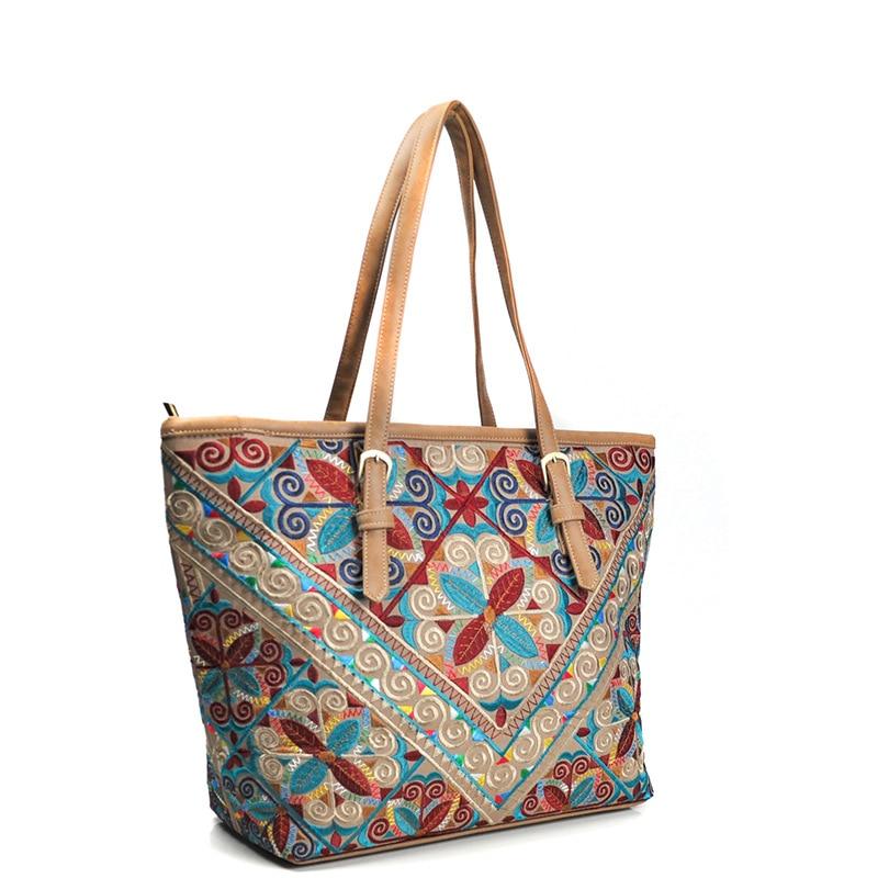 29c19986e4 Chinois Casual Pattern Sac Main D'épaule Shopping Grand Thai tout Fourre  Style Flower Inde Femmes ...