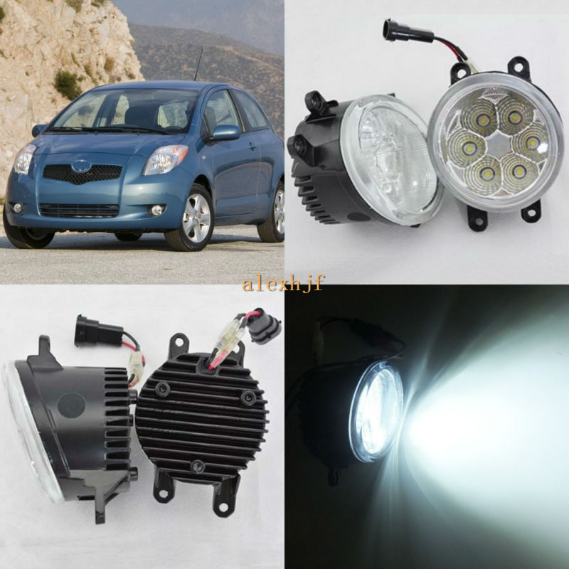 July King 18W 6500K 6LEDs LED Daytime Running Lights LED Fog Lamp case for Toyota Yaris 2007~2014, over 1260LM/pc july king 18w 6500k 6leds led daytime running lights led fog lamp case for peugeot 107 2012 2015 over 1260lm pc
