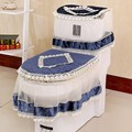 High Grade Lace Three-piece Set Toilet Seat Cover U-shaped Overcoat WC Cover Home Decor Bathroom Toilet Mats closestool merletto