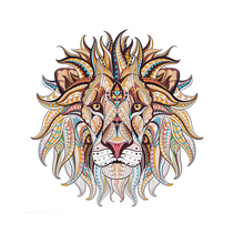 5D DIY Diamond Painting Full Drill Round Diamond Embroidery Lion Animal Pattern Mosaic Stickers Cross Stitch Hobbies цена