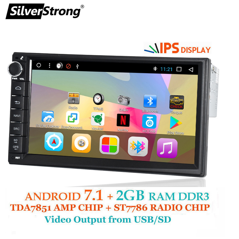 SilverStrong Android 1Din 7 Universel Voiture dvd Radio Multimédia Bluetooth GPS Navigation Voiture Stéréo MirrorLink FM 707T3 1din 2g