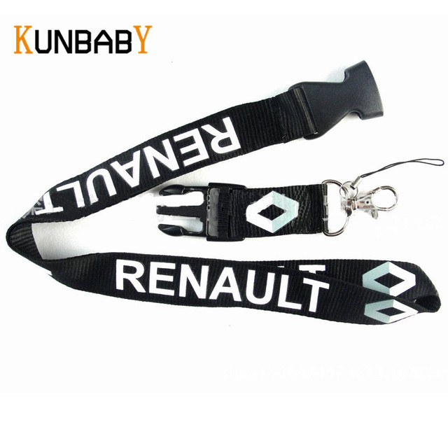 0422b97bfd1f US $4.06 7% OFF Aliexpress.com : Buy KUNBABY Lanyard Key Chain For Car Neck  Strap ID Card Key Ring Badge Holder Clip Case For Renault Duster Megane 2  ...
