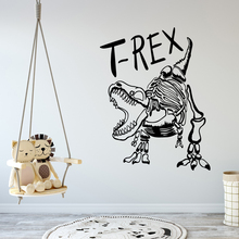 Cartoon Style T-rex Removable Art Vinyl Wall Stickers For Kids Room Decoration Decor Decals