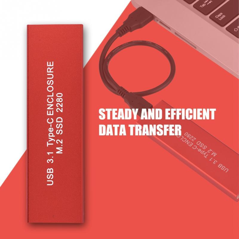 USB3.1 TYPE-C к M.2 NGFF SSD жесткий диск корпус 120 г красный ...
