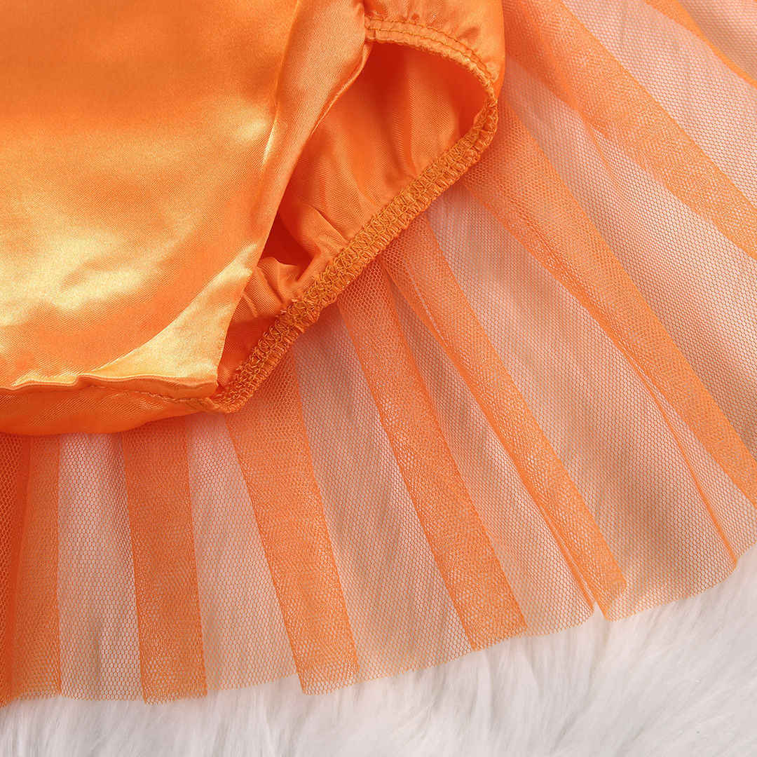 bfbbec1544d0 ... 2017 Infant Baby Girl Halloween Pumpkin Rompers Baby Dress Costume  Clothes Outfits Child Girls Halloween Romper