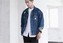 2014 spring denim jacket men outdoors fashion new Korean jeans jackets men's clothing Denim Jacket for man plus size S-XL