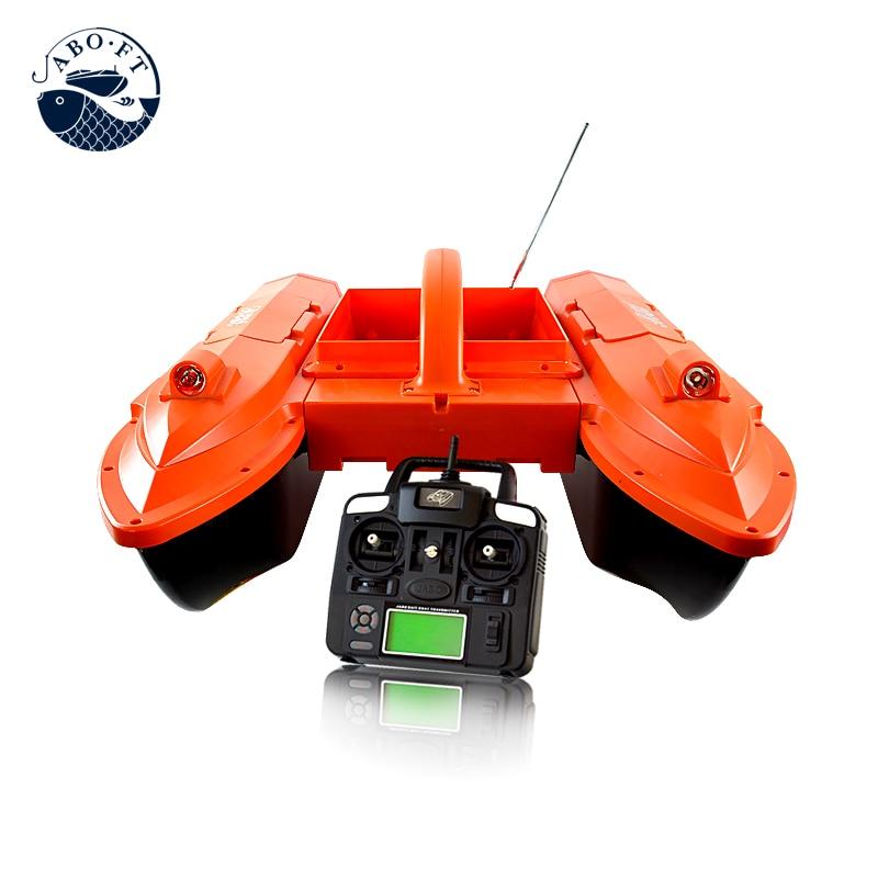 Wholesale JABO-5CG two big hoppers lithium battery Sonar fish finder GPS rc carp fishing bait boat free shipping factory price catamaran hull jabo 5a long distance two hoppers rc bait boat for releasing hook