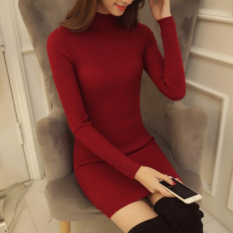 6044 koreai női női pulóver Turtleneck ing fél - Női ruházat - Fénykép 2