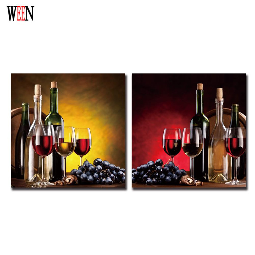 Framed wine canvas art print poster grapes wall christmas for Cheap prints and posters