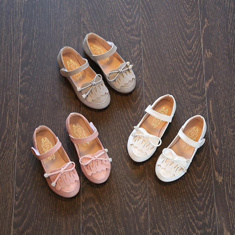 Children spring single shoes 2017 princess shoes children shoes small leather tassel girl shoes soft outsole