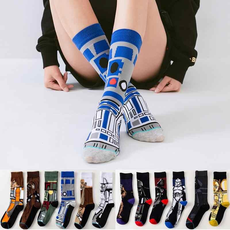 Güzel Disney Star Wars 9 Jedi şövalye usta Yoda C-3PO Wookiee Cosplay çorap çizgi roman kadın erkek kuvvet uyandırır çorap hediyeler oyuncak