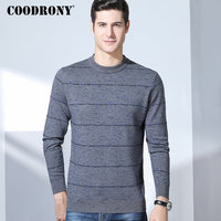 COODRONY 2018 Winter New Arrivals 100% Merino Wool Sweater Men Thick Warm Cashmere Pullover Men Casual O Neck Mens Sweaters 8322