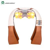 JinKaiRui U Shape Electric Shiatsu Kneading Back Neck Shoulder Foot Body Massager Infrared Heated Car Home