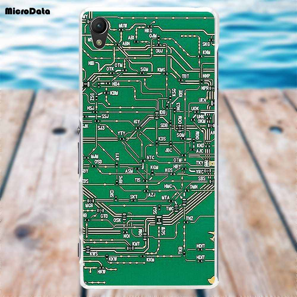 soft tpu fashion cell phone case computer battery circuit board for sony xperia z z1 z2  [ 1000 x 1000 Pixel ]