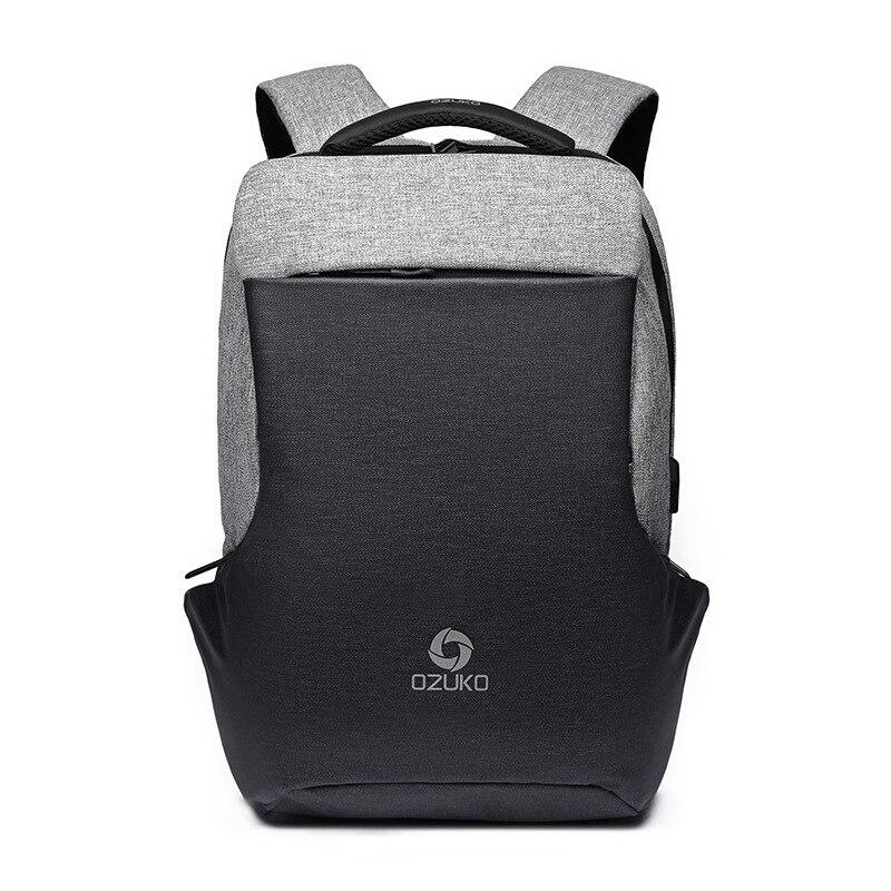 OZUKO nouveau sac à dos multifonctionnel hommes USB charge ordinateurs portables d'entreprise sac à dos de mode sac de voyage sacs d'école sac à dos sac à dos - 6