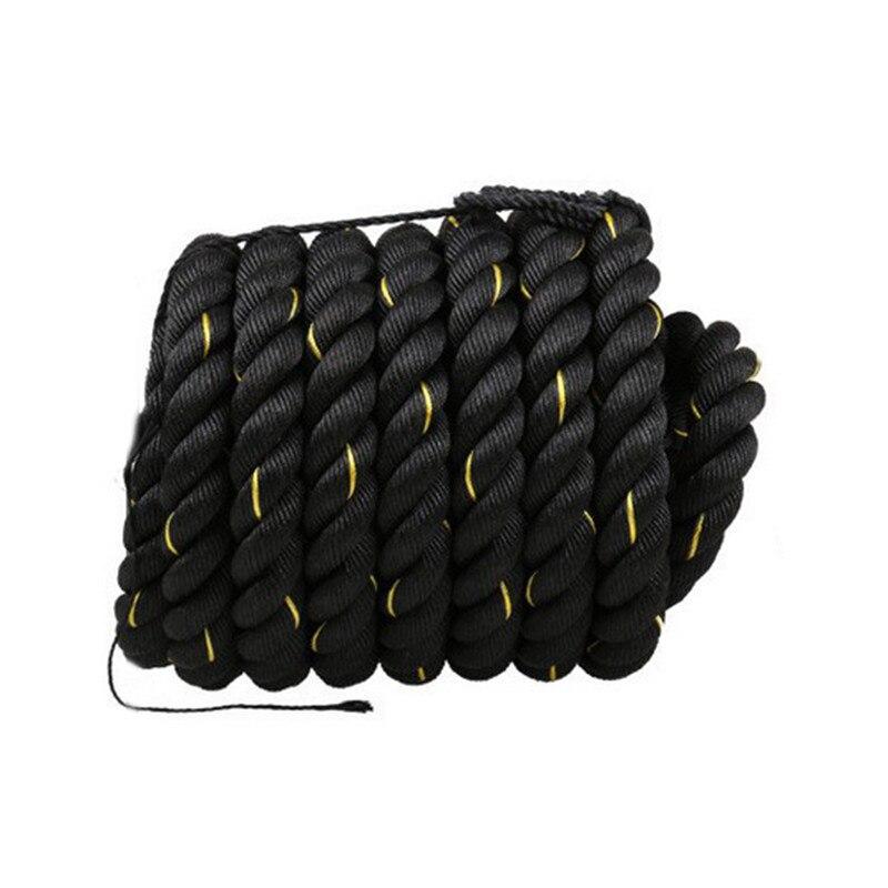 12 M/15 M Dacron matériel lourd noir or corde de combat physique musculation entraînement Sport Fitness exercice corde d'entraînement - 6