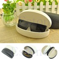 Black/White Oval Shape Resist Pressure Crush Printed Flower Sunglasses Box Jewelry Gift Case