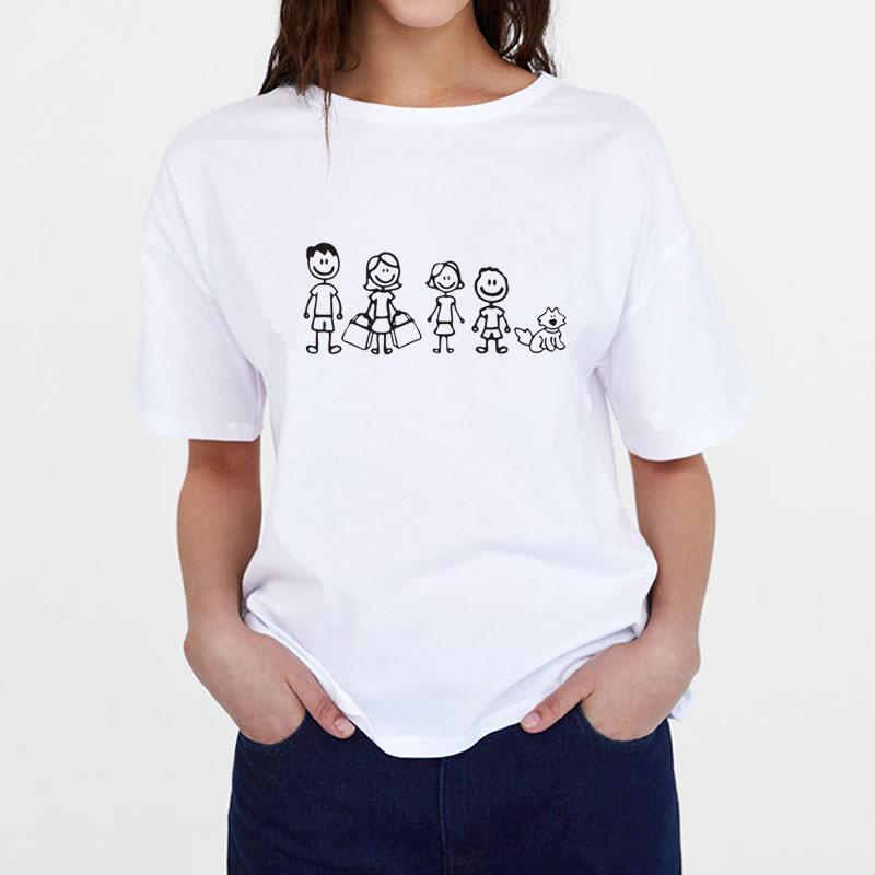 2018 летние Для женщин футболка мода день мама гриль мальчик с принтом Собаки Футболка Для женщин Топ Harajuku 100% хлопок Kawaii Harajuku плюс размеры