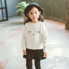 цена на Baby Girls Sweaters New Autumn Winter Girl Long Sleeve Knitted Clothes Kids Cartoon Pullover Sweater For Girls 1 2 3 4 5 Years