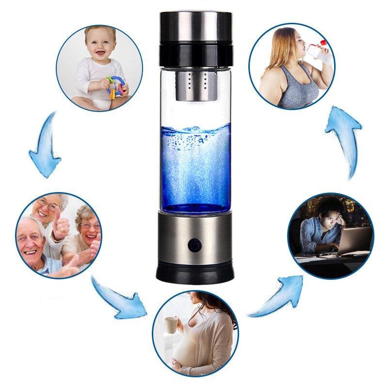 500ML富氢发生器便携式滤水器电离器H2 PEM碱性氢瓶电解饮料氢(3)