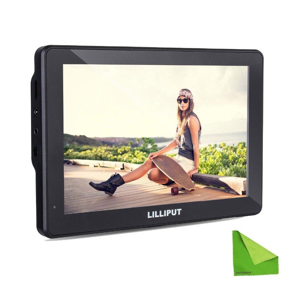 Lilliput MoPro7 DSLR caméra avec batterie intégrée HDMI AV entrée moniteur spécifique pour Sony Canon Nikon GoPro Hero 3 + 4 pour BMPCC