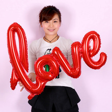 1pcs/lot Ligatures LOVE Letter Foil Balloon Anniversary Wedding Valentines Party Decoration Balloon Red Champagne