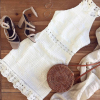Elegant sleeveless vintage white dress 2
