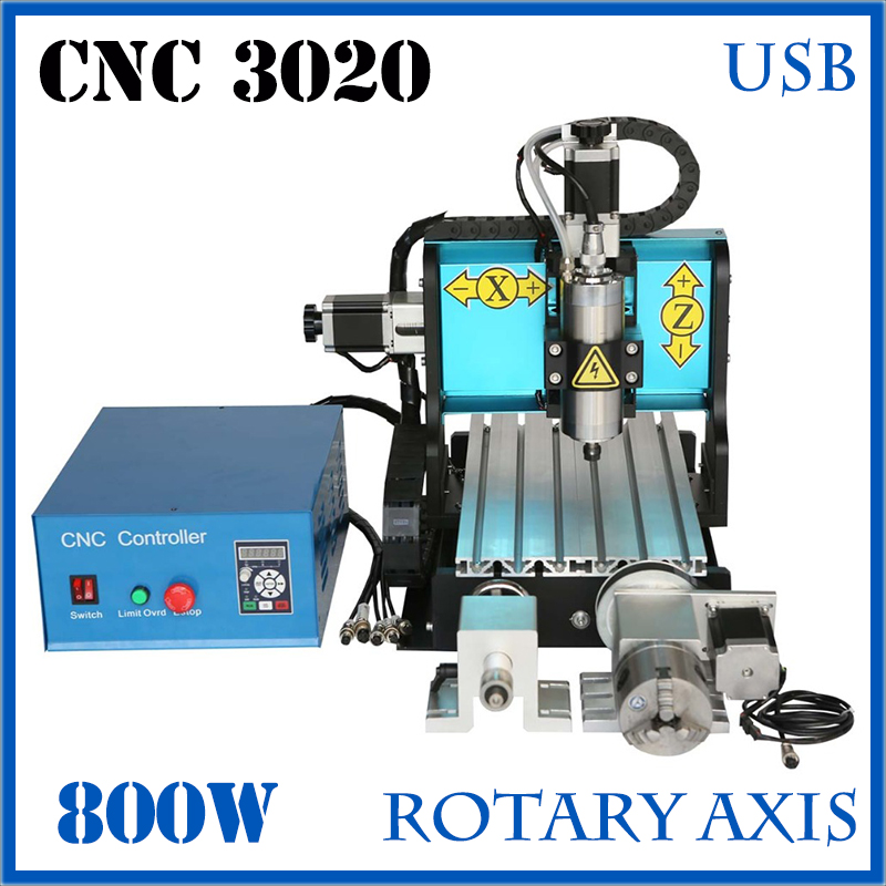 цена на JFT New Technology CNC 3020 Router 800W 4 Axis with USB Port Spindle Motor Engraver Machine Engraving Tools For Metal Broca