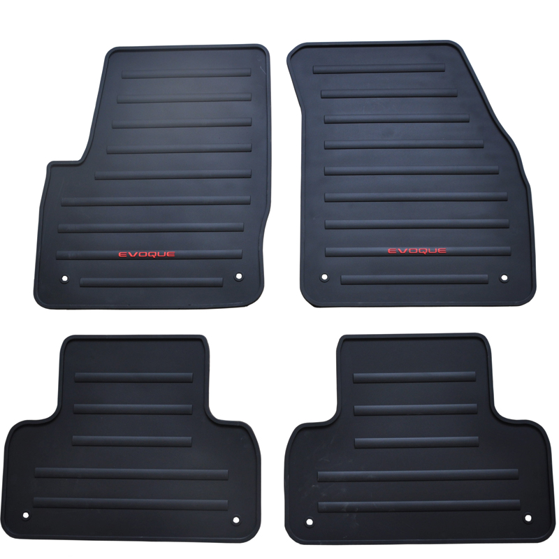 waterproof non slip rubber car floor mats for EVOQUE no odor green