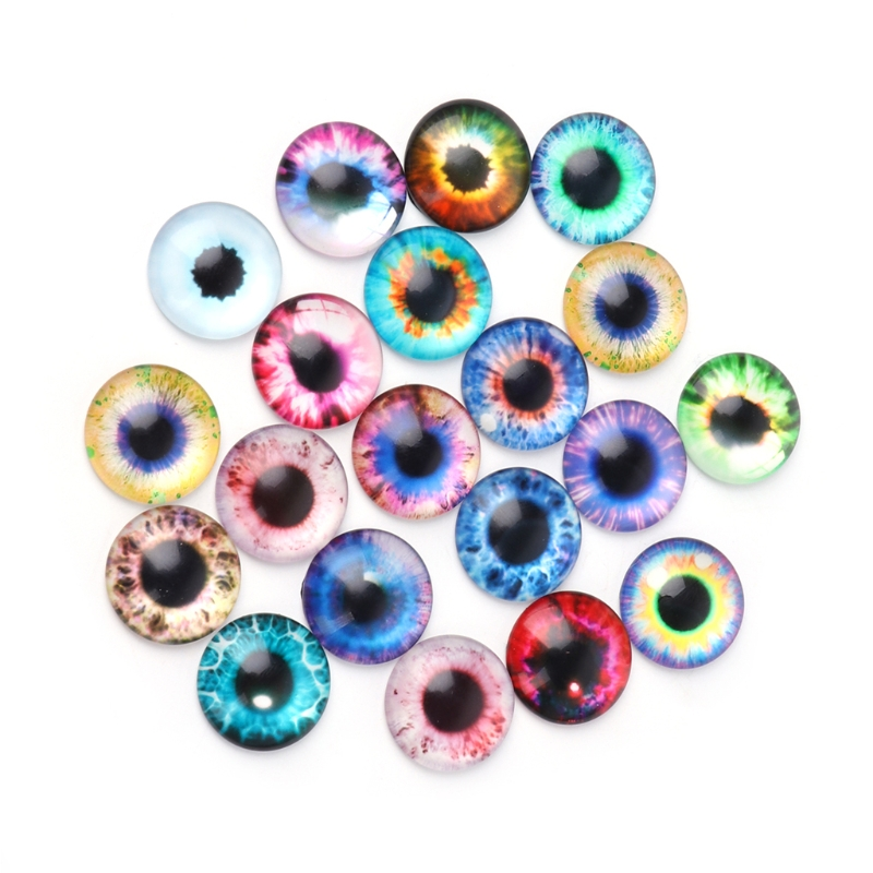 20Pcs Glass Dolls Eye DIY Handcraft Animal Eyes Jewelry Accessories 10/16/20mm animal dolls complete diy kit assorted