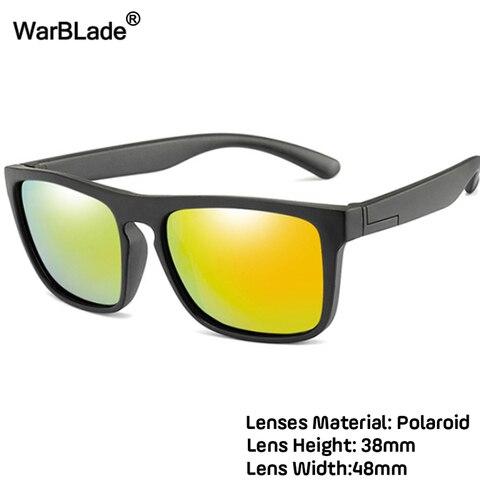 WarBlade 2019 New Kids Silica Soft Sunglasses Polarizing Square Boys Girls Brand Eyeglasses Infant UV400 Breakproof Sunglasses Lahore