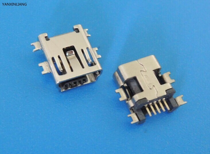 10PCS Mini USB Type B Female 5 Pin SMT SMD Shen board PCB Socket Connector 10pcs g45 usb b type female socket connector for printer data interface high quality sell at a loss usa belarus ukraine