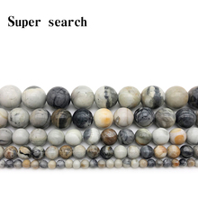 Natural Stone Gorgeous Picasso Round Loose Beads Fit Diy Bracelet Women Necklace For Jewelry Making Accessories