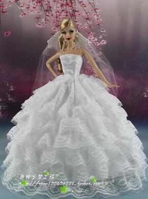 dream original case for barbie clothes lot princess dresses set doll rapunzel party gown wedding dress for girl accessories toys