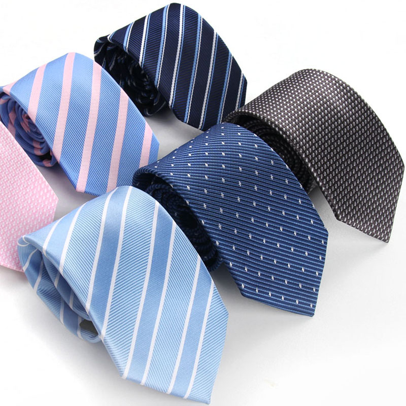 High Quality Men's Fashion Striped 7CM Width Neck Tie Formal Business Meeting Special Neck Tie For Men's With Gift Box
