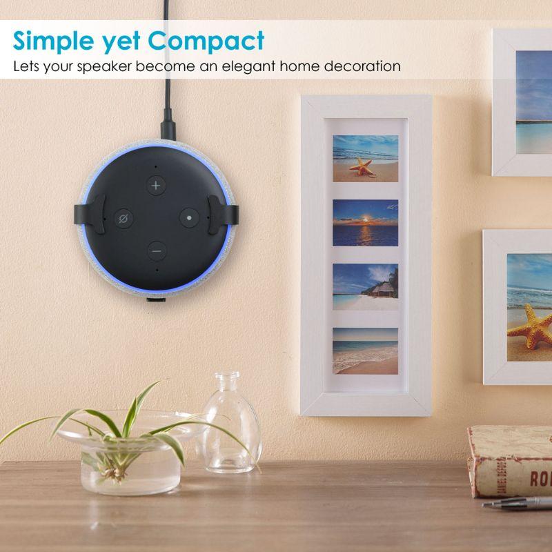 1 Pc Metall Aluminium Wand Halterung Ständer Halter Halterung Für Amazon Echo Echo Dot 3rd Generation Bluetooth Lautsprecher üPpiges Design