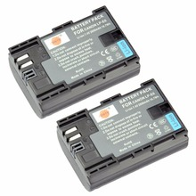 Dste 2 шт. lp-e6 аккумулятор для canon eos 5ds 5d mark ii 5d mark iii 6d 7d eos 80d 5dsr камеры