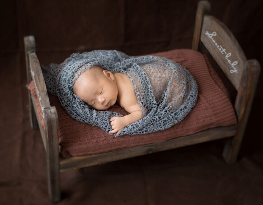 Wooden Baby Bed Photography Props,Vintage Baby Crib Newborn Fotografia  #P0432