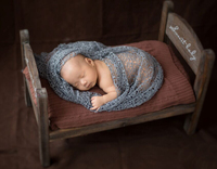 Wooden Baby Bed Photography Props,Vintage Baby Crib Newborn Fotografia #P0432