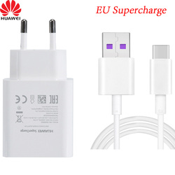 Original HUAWEI Supercharge USB Fast Charger EU Plug Adapter 5V/4.5A Type C Data Cable for huawei p10 plus mate 20 lite p20 pro