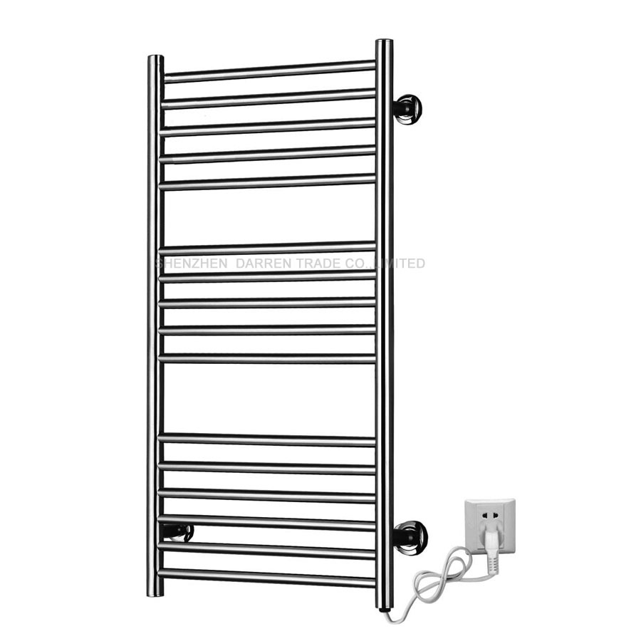 110v220v heated towel rail holder bathroom accessories towel racks stainless steel electric towel warmer towel dryer 120w in towel racks from home - Bathroom Accessories Towel Rail