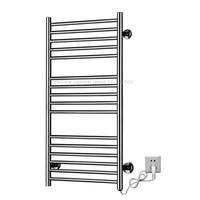Stainless Steel Heated Towel Warmer Bathroom Wall Mounted Electric Heated Towel Rail Sixteen layer Towel Rack dryer 110v or 220v