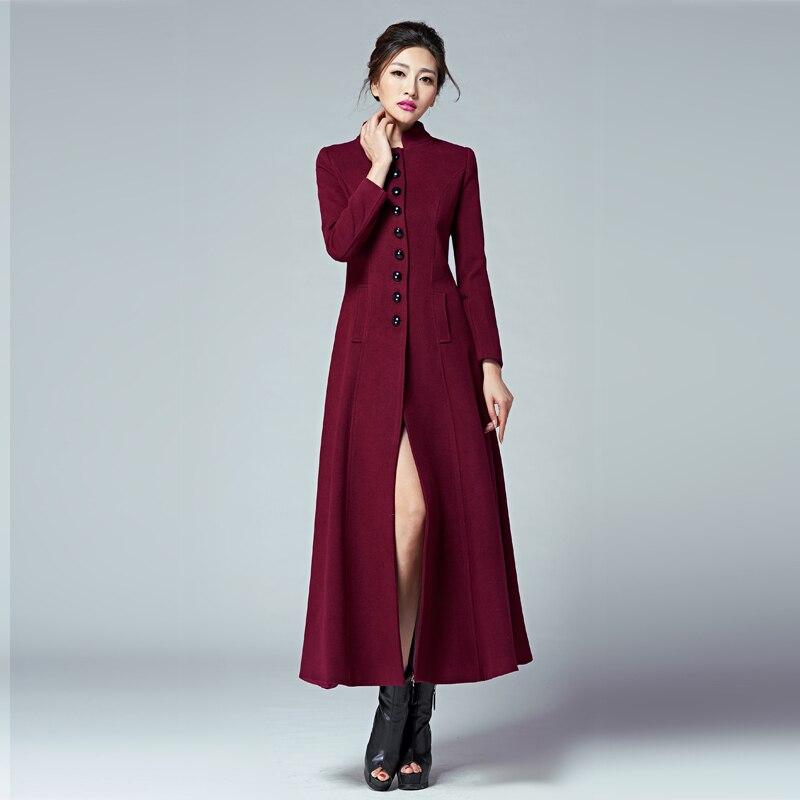 Mode Outwear Fourrure Femmes Fur Collar Unique 2017 Nouvelles Taille Col En De no With Hiver with Collar Long Poitrine Veste Plus Automne Manteau La Laine Tranchée Collar AqZtHw